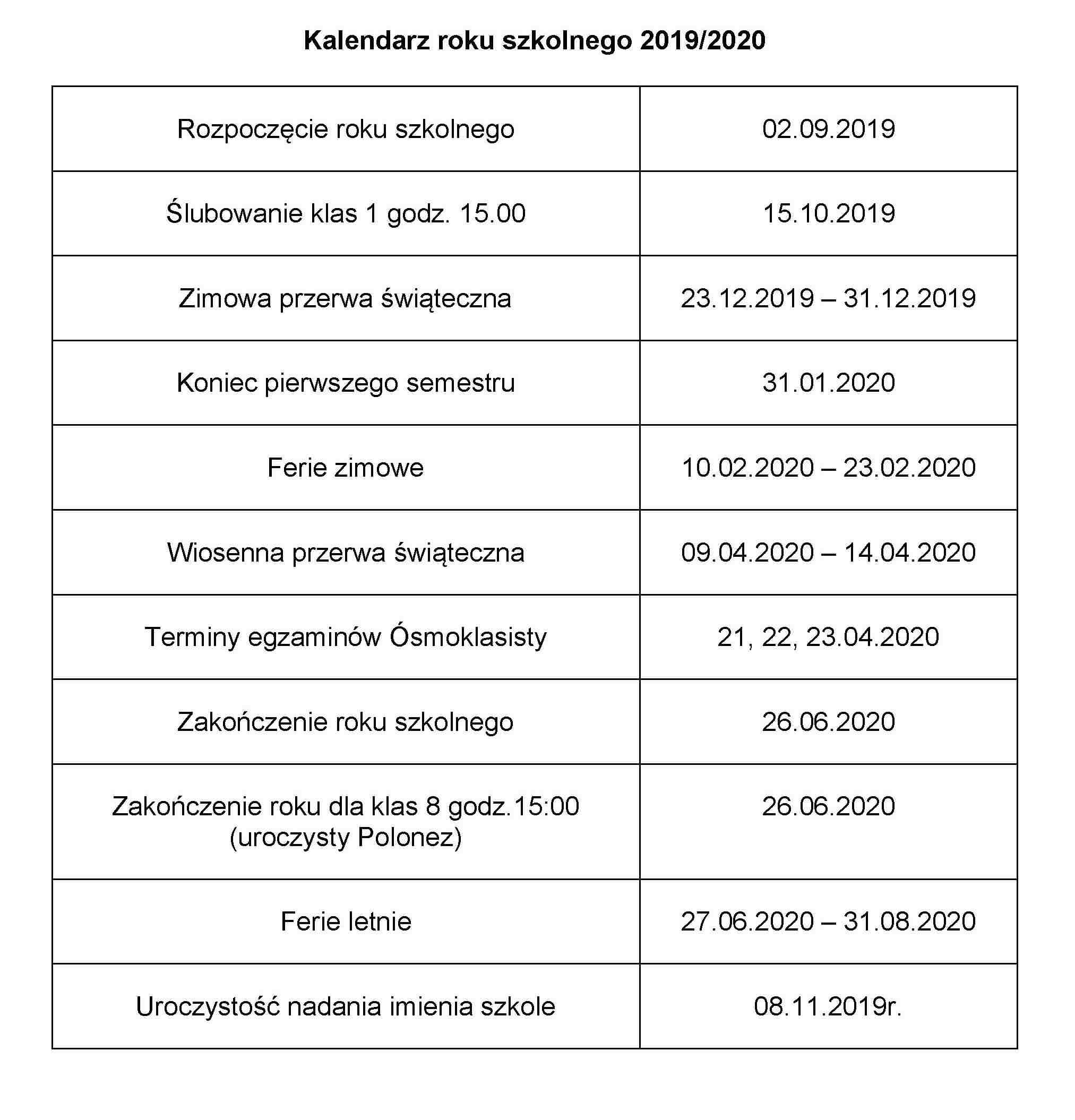 Kalendarz roku szkolnego 2019 (1)